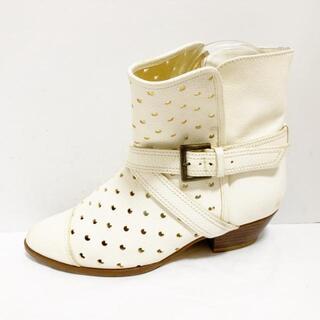 ツモリチサト(TSUMORI CHISATO)のツモリチサト 1 レディース 白 レザー(ブーツ)