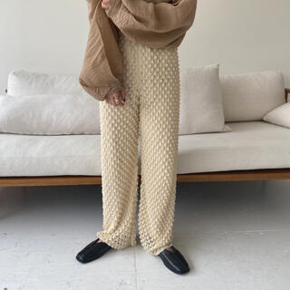 lawgy original ami knit pants ivory