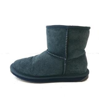 エミュー(EMU)のエミュ 24 レディース - ネイビー ムートン(ブーツ)