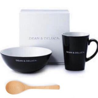 ディーンアンドデルーカ(DEAN & DELUCA)の3点セット‼️ DEAN & DELUCA シリアルボウル&ラテマグ黒+スプーン(食器)