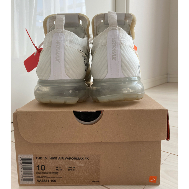 OFF-WHITE(オフホワイト)の【鑑定済】NIKE x off-white air vapormax White メンズの靴/シューズ(スニーカー)の商品写真