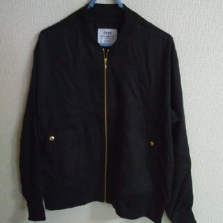 coen - coen ブラック色薄手ジャケット 美品 サイズフリー