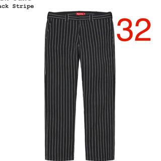 Supreme - supreme work pant black stripe