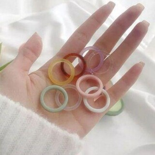 ニコアンド(niko and...)のアクリルリング ホマイカリング デザインリング 指輪 8点セット(リング(指輪))