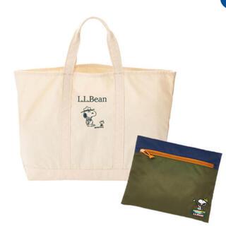 L.L.Bean - LLbean グローサリートート スヌーピー  ナチュラル 新品