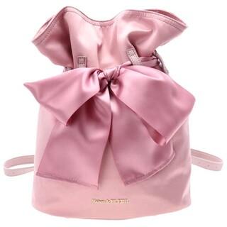 メゾンドフルール(Maison de FLEUR)のLiane 巾着リボンリュック   ピンク(リュック/バックパック)