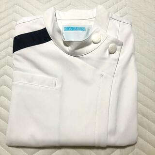 カゼン(KAZEN)のKAZEN 084-28 レディスジャケット半袖 アプロン 医療ユニフォーム(その他)
