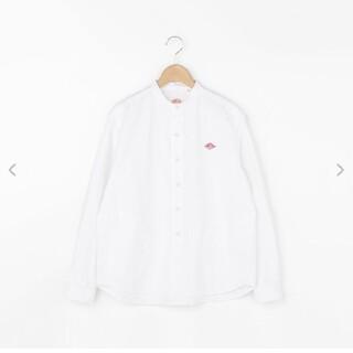 ダントン(DANTON)のダントン バンドカラーシャツ(サイズ36,白)(Tシャツ(長袖/七分))
