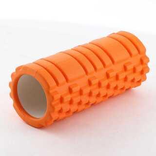 フォームローラー オレンジ ヨガポール 筋膜リリース マッサージローラー(ヨガ)