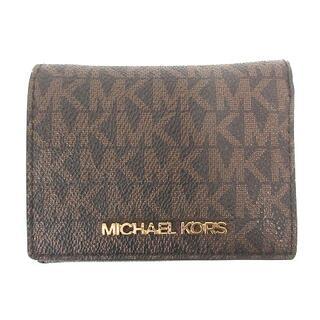 Michael Kors - マイケルコース MICHAEL KORS 三つ折り財布 ミニウォレット ブラウン
