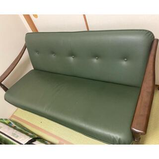 カリモクカグ(カリモク家具)のカリモク60 2.5人掛けソファ 合皮(二人掛けソファ)
