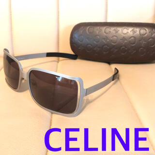 celine - 美品 CELINE セリーヌ サングラス シルバー いぶし銀