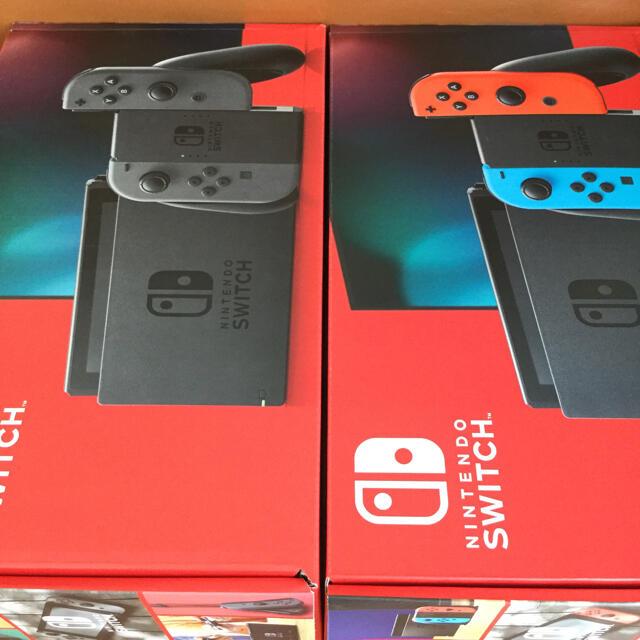 Nintendo Switch(ニンテンドースイッチ)のニンテンドースイッチ ネオン グレー エンタメ/ホビーのゲームソフト/ゲーム機本体(家庭用ゲーム機本体)の商品写真