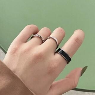 ニコアンド(niko and...)のデザインリング シルバーリング 指輪 3点セット(リング(指輪))