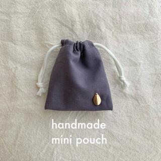 handmade*しずくミニ巾着 AirPodsケース/小物 アクセサリーポーチ