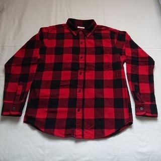 ジーユー(GU)のGU フランネルチェックシャツ(ネルシャツ)(ブラウス)