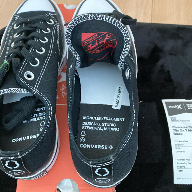 FRAGMENT(フラグメント)の新品 converse×fragment×moncler 24.5cm 正規品 メンズの靴/シューズ(スニーカー)の商品写真