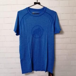 マムート(Mammut)の【新品】MAMMUT Logo Jacquard Tシャツ アジアXL 青(登山用品)