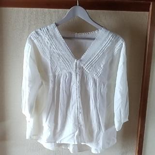 イオン(AEON)の未使用 ナチュラル系レースシャツ(シャツ/ブラウス(長袖/七分))