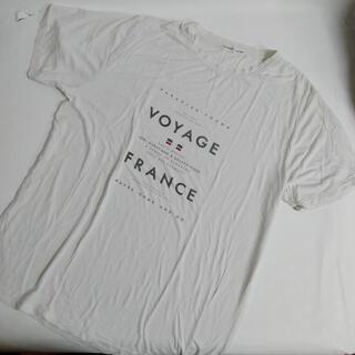 gelato pique - ジェラピケ Tシャツ フロント 白 Lサイズ