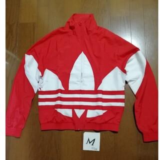 adidas - みるくてぃ☆様専用adidas トレファイルナイロンジャケット赤白M + 点