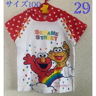 セサミストリート(SESAME STREET)のセサミストリート半袖パーカー100(Tシャツ/カットソー)