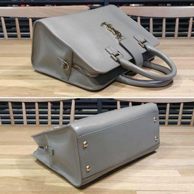 Saint Laurent(サンローラン)の美品 サンローラン カバス S 2WAYハンドバッグ ショルダーバッグ グレー レディースのバッグ(ハンドバッグ)の商品写真