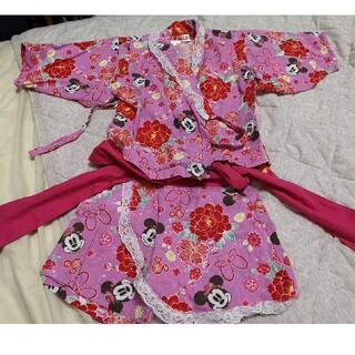 ディズニー(Disney)のミニー 浴衣 100cm 甚平(甚平/浴衣)