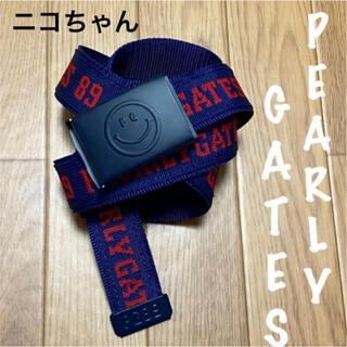 PEARLY GATES - 美品⛳️パーリーゲイツ  ニコちゃん  ベルト  レディース  ゴルフウェア