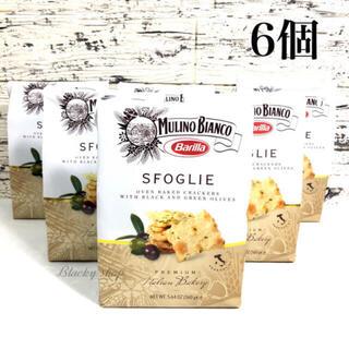 【6個セット】バリラ ムリーノビアンコ クラッカー オリーブスフォリエ 160g(菓子/デザート)
