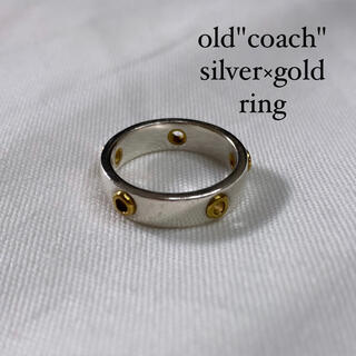 DEPT - old coach silver × gold vintage ring