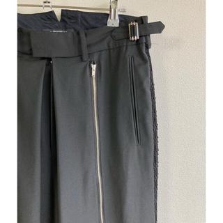Yohji Yamamoto - ALMOSTBLACK 18ss flont zip wide pants