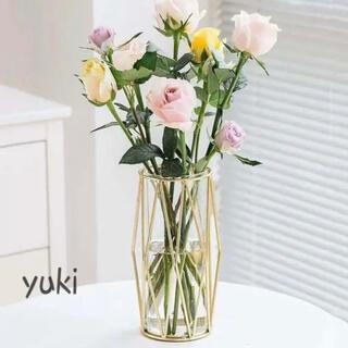 フラワーベース 北欧 ゴールド 花瓶 インテリア 新生活 ガラス おしゃれ 出品