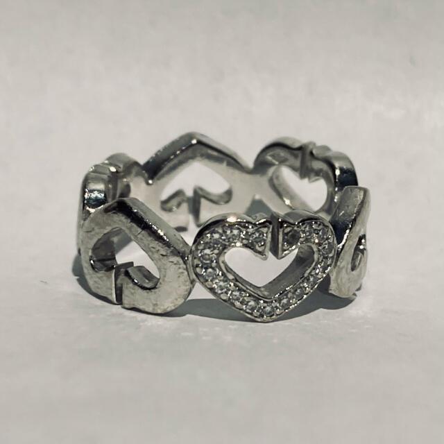 Cartier(カルティエ)のカルティエ Cハート 1P ダイヤ リング 750 wg 51 サイズ レディースのアクセサリー(リング(指輪))の商品写真