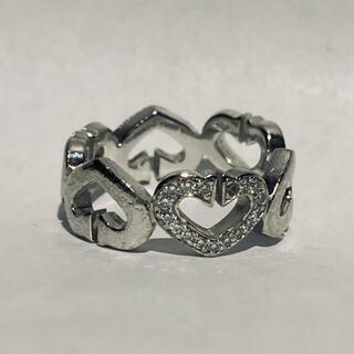 Cartier - カルティエ Cハート 1P ダイヤ リング 750 wg 51 サイズ