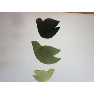 鳥モビール 16 Green(モビール)