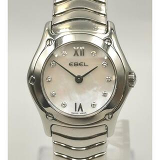エベル(EBEL)のEBEL エベル E9157F12  クラシックウェーブ 10Pダイヤ 時計(腕時計)