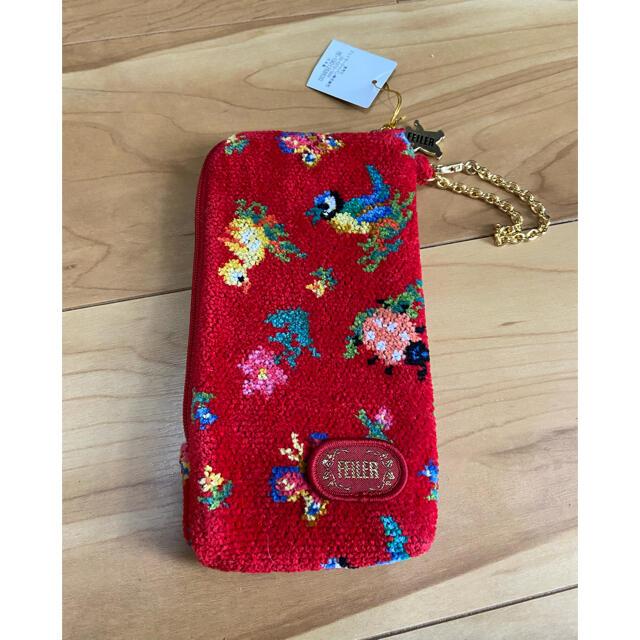 FEILER(フェイラー)のフェイラー ハイジ 赤  レディースのファッション小物(ポーチ)の商品写真