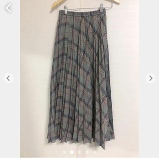 ビューティアンドユースユナイテッドアローズ(BEAUTY&YOUTH UNITED ARROWS)の美品 ビューティ&ユース ユナイテッドアローズ プリーツチェック柄ロングスカート(ロングスカート)