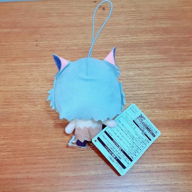 【鬼滅の刃】  嘴平伊之助  ぬいぐるみ&刀(プラスチック) セット エンタメ/ホビーのおもちゃ/ぬいぐるみ(キャラクターグッズ)の商品写真
