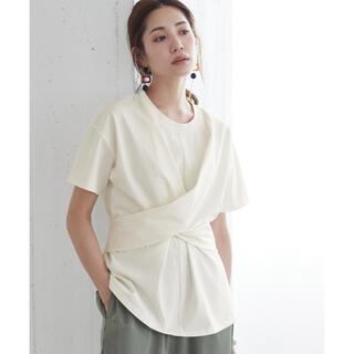 titivate ツイストリボンデザイン 半袖Tシャツ グレー