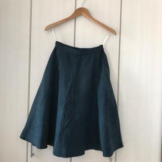 エヌナチュラルビューティーベーシック(N.Natural beauty basic)のN.natural beauty basic ベロアAラインスカート(ひざ丈スカート)