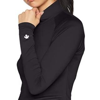 DESCENTE - 新品 M DESCENTE golf sleeve shirt ハイネック 黒