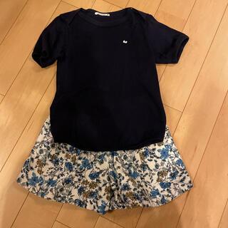 ミナペルホネン(mina perhonen)のミナペルホネン カットソー 130 ネイビー(Tシャツ/カットソー)