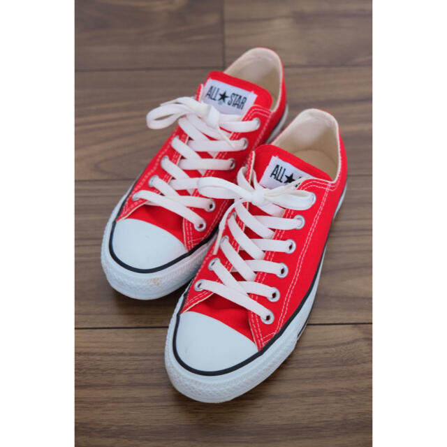 CONVERSE(コンバース)の値下げ コンバース オールスター ローカット レッド 24cm 赤 レディースの靴/シューズ(スニーカー)の商品写真