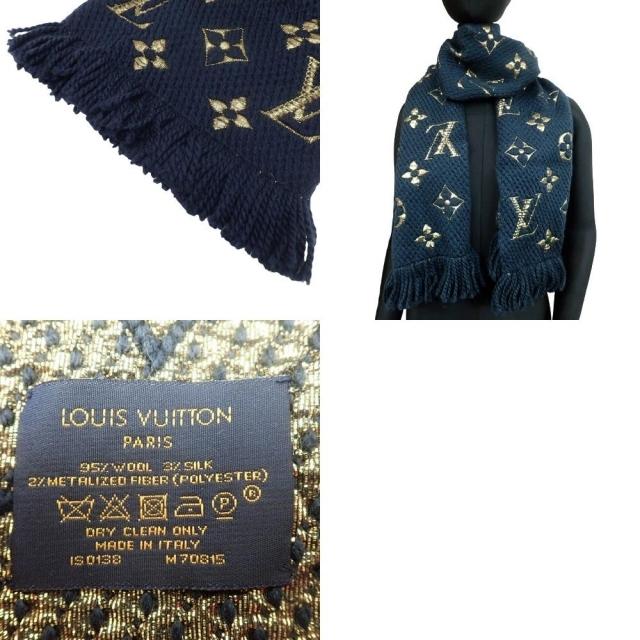 LOUIS VUITTON(ルイヴィトン)のルイヴィトン エシャルプロゴマニア シャイン ネイビー青 40800070320 レディースのファッション小物(マフラー/ショール)の商品写真