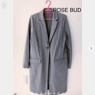 ローズバッド(ROSE BUD)のROSE BUD チェスターコート ロングコート グレー ローズバッド (チェスターコート)