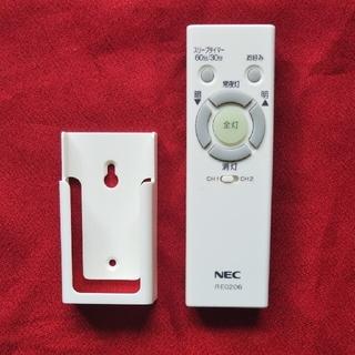 エヌイーシー(NEC)のNEC 照明用リモコン RE0206(天井照明)