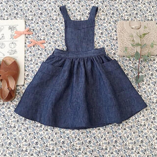Caramel baby&child  - soor ploom harriet pinafore 2-3y