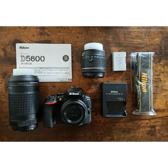Nikon(ニコン)の【ほぼ未使用】Nikon ニコン D5600 ダブルズームキット         スマホ/家電/カメラのカメラ(デジタル一眼)の商品写真